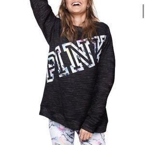 PINK VS | Dark gray oversized sweatshirt